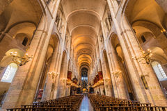The Basilica of St. Sernin in Toulouse, France. TOULOUSE, FRANCE - JUNE 02 2015: The Basilica of St. Sernin, built in Romanesque style between 1080 and 1120 in Stock Photography