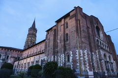 Basilica of St. Sernin in Toulouse Royalty Free Stock Images