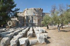 Basilica of St Simeon stock image