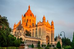 Basilica of St. Therese of Lisieux stock photography
