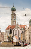 Basilica St. Ulrich in Augsburg Royalty Free Stock Image