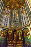Basilica Stained Glass De Krijtberg Church Amsterdan Holland Netherlands Stock Image