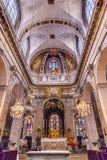 Basilica Stained Glass Saint Louis En L'ile Church Paris France Stock Photos