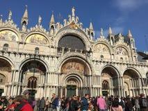 Basilica sulla piazza di San Marco a Venezia Fotografia Stock Libera da Diritti