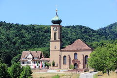 Basilica of Thierenbach in Alsace Royalty Free Stock Photography
