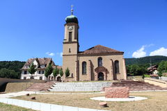 Basilica of Thierenbach in Alsace Stock Image