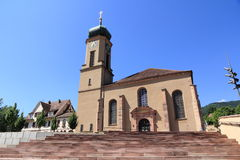 Basilica of Thierenbach in Alsace Royalty Free Stock Photo