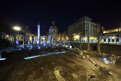 Basilica Ulpia is Roman civic building Stock Photography