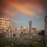 Basilica Ulpia Rome Royalty Free Stock Photo