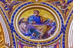 Basilica Vaticano Roma Italia del ` s di Luke Mosaic Saint Peter del san Fotografie Stock Libere da Diritti