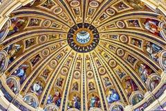 Basilica Vaticano Roma Italia del ` s di Michelangelo Dome Saint Peter Fotografia Stock Libera da Diritti