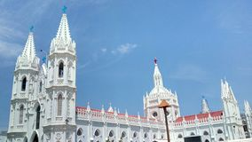 Basilica of Velankanni. This is a famous and oldest seashore church in India stock images