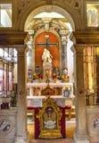 Basilica Venezia della statua di Santa Maria Giglio Zobenigo Church Pieta Fotografia Stock