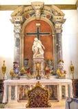 Basilica Venezia della statua di Santa Maria Giglio Zobenigo Church Pieta Fotografia Stock Libera da Diritti