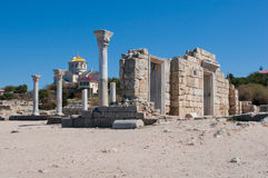 Basilica of the VI-X centuries, Crimea, Ukraine Stock Photo
