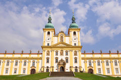 Basilica of virgin mary. In olomouc,czech rep Royalty Free Stock Photo