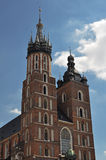 The basilica of the Virgin Mary in Krakow - Poland Stock Image