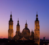 Basilica of Virgin of the Pillar. Royalty Free Stock Images