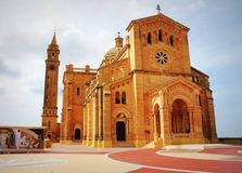 The basilica of the Virgin Of Ta Pinu near the village of Gharb in Gozo.  Stock Photos
