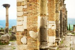 Basilica at Volubilis, N Morocco Stock Photos
