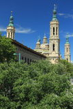 Basilica in Zaragoza Stock Photography