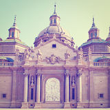 Basilica in Zaragoza Royalty Free Stock Photo