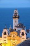 basilicacandelaria skymning spain tenerife Arkivbilder