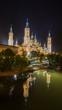 The Basilica–Cathedral night reflexes view Stock Image