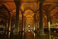 basilicacistern istanbul Royaltyfria Foton