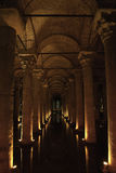 basilicacistern istanbul royaltyfri bild