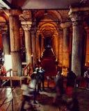 BasilicaCistern Istanbul arkivfoton