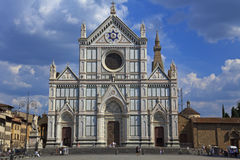 basilicacroce florence italy santa Royaltyfria Foton