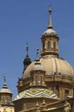basilicadel pilar zaragoza Arkivbild