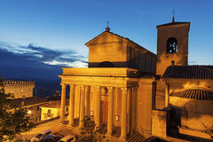 Basilicadi San Marino Arkivfoton