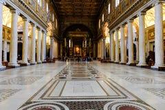 Basilicadina Santa Maria Maggiore i Rome Arkivbilder