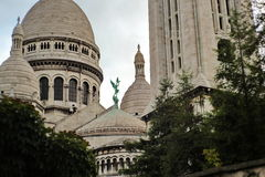 Basilica Sacre-Coeur i Paris Arkivfoton