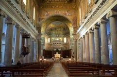 Basilicaen av vår Lady i Trastevere i Rome Arkivbilder