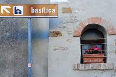 Basilicaen undertecknar Royaltyfria Bilder