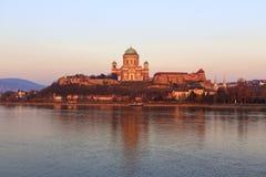 basilicaesztergom hungary Royaltyfri Fotografi