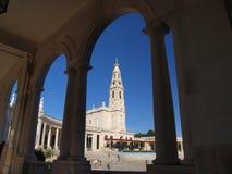 basilicafatima portugal radband Arkivbild