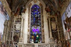 basilicaflorence maria novella santa Arkivbild
