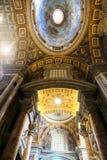 basilicaitaly peter s st vatican Arkivfoton