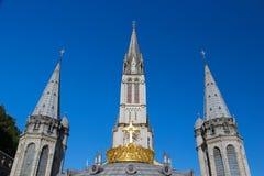 basilicakrona förgyllda lourdes Royaltyfri Bild