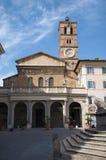 basilicamaria rome santa trastevere Royaltyfria Foton