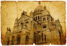 basilicamontmartre paris Arkivfoton