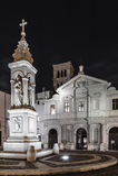 BasilicaSt Bartholomew på ön, Tiber ö, Rome royaltyfria bilder