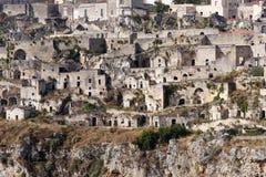 basilicata意大利matera老sassi城镇 免版税库存图片