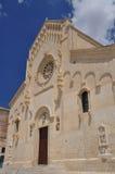 basilicata意大利matera 中央寺院门面 库存照片