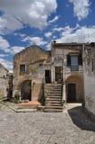 basilicata Италия matera Старый город Sassi, традиционная архитектура Стоковые Фотографии RF