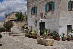 basilicata Италия matera Старый город Sassi, традиционная архитектура Стоковое Фото
